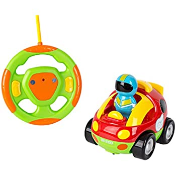 Kids Toy Remote Control Race Car - Cartoon RC Car With Music And Lights - Toy For Baby Toddlers And Children