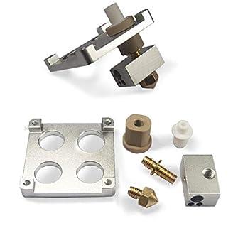 Aislador de aluminio PEEK de 1,75 mm/3 mm + extrusor de bloque de ...