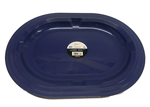 Serving Holiday Oval Platter (Holiday Serving Tray, Oval, 16 inch, Blue)