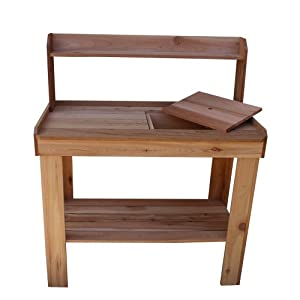 Outdoor Living Today Western Red Cedar Potting Bench with Removable Sink