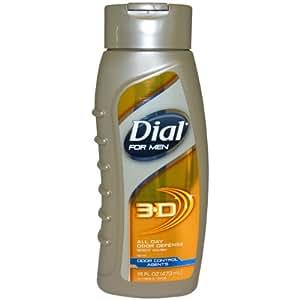 Dial 3-D All Day Odor Defense Body Wash Men, 16 Ounce
