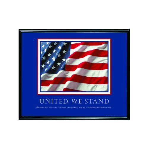 - ADVANTUS Framed Motivational Print, United We Stand, 30 x 24 Inches, Black Frame (78036) by Advantus