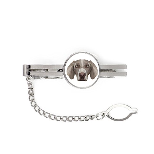 Weimaraner, tie pin, Clip with an Image of a Dog, Elegant, Geometric