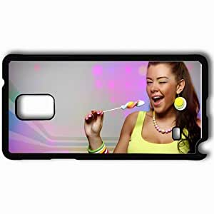 Personalized Samsung Note 4 Cell phone Case/Cover Skin Albino Mango Clubmasters Records Dj Djane She Dj Music House Djs Black