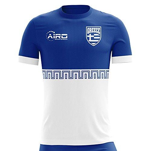 コンピューターを使用する気味の悪い説明的Airoスポーツウェア2018 – 2019 Greece Away Conceptフットボールシャツ