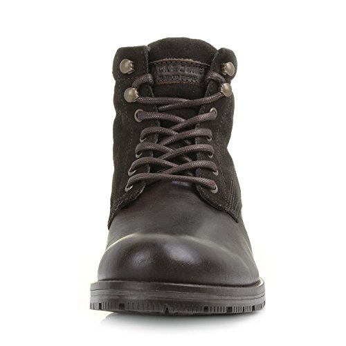 Herren Combo Jack Java Jones Militärstiefel and Dunkelbraune West Leder qTwq64