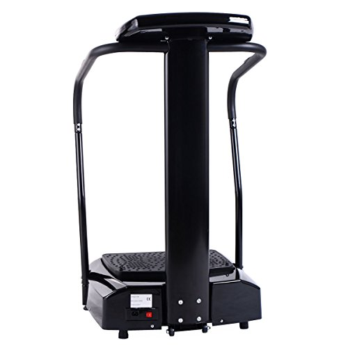 Goplus 2500W Slim Full Body Vibration Platform Fitness Machine Crazy Fit Home Gym, Black