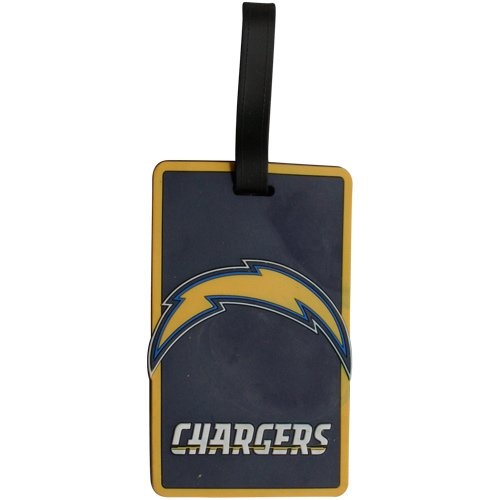aminco San Diego Chargers - NFL Soft Luggage Bag Tag (San Diego Chargers Vs Indianapolis Colts Live)