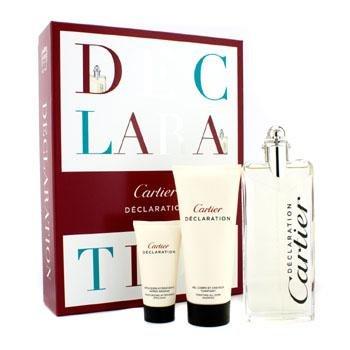 Cartier Declaration Coffret: Eau De Toilette Spray 100ml/3.3oz + All Over Shampoo 100ml/3.3oz + After Shave Emulsion 30ml/1oz (Declaration Spray Shampoo)