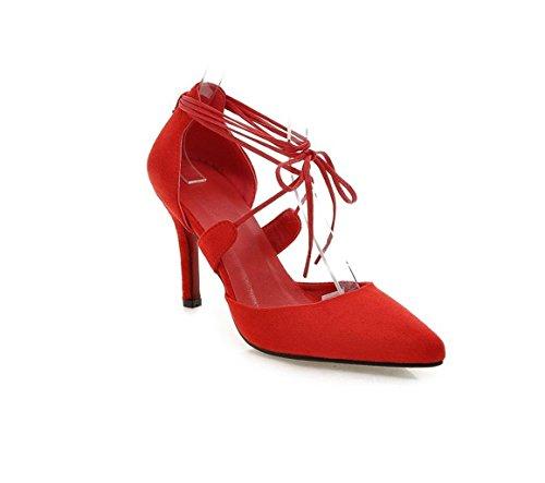 grandi 37 Red scamosciato da a dimensioni sci a da scarpe Scarpe quattro festa zampe YWNC qpwTAT