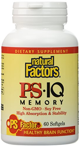 Tablets Chewable 60 Mg 25 (Natural Factors - PS-IQ Memory 25mg, Supports Healthy Brain Function, 60 Soft Gels)