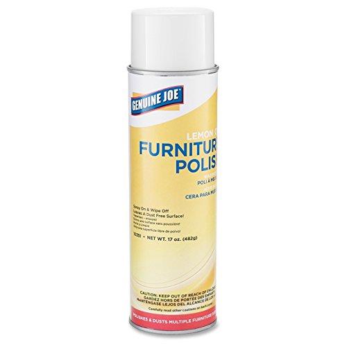 (Genuine Joe GJO10351CT Furniture Polish Spray, 17 oz, Lemon Scent (Pack of 12))