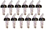 Wine-by-the-Glass Portion Spouts with Clear Top - Pack of 12