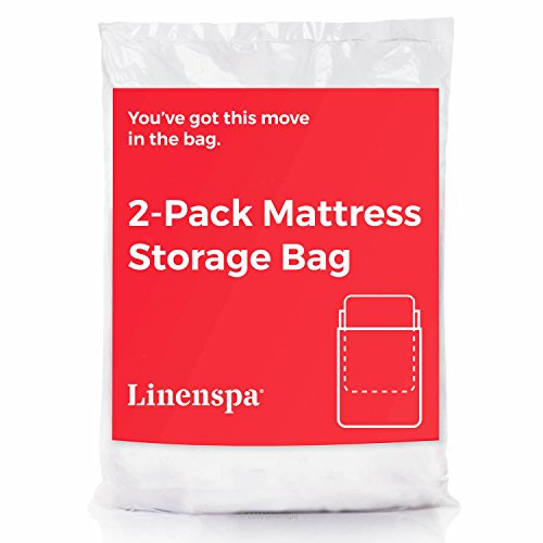 LINENSPA 2-Pack Mattress Bag for Moving and Storage for King / California King Mattresses and Box Springs (Bed And Bag King Size)