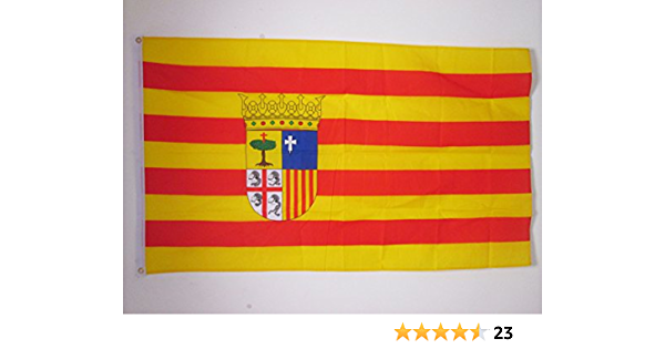AZ FLAG Bandera de ARAGÓN 150x90cm - Bandera ARAGONESA 90 x 150 cm: Amazon.es: Hogar