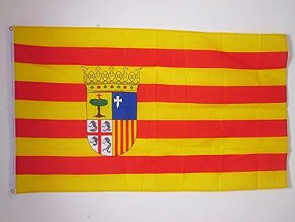 AZ FLAG Bandera de ARAGÓN 150x90cm - Bandera ARAGONESA 90 x 150 cm