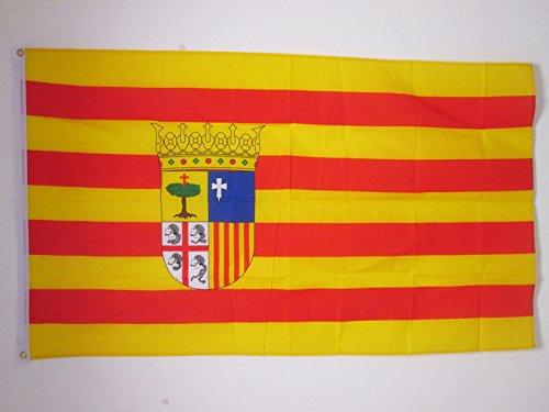 BANDERA de ARAGÓN 150x90cm - BANDERA ARAGONESA 90 x 150 cm - AZ FLAG product image
