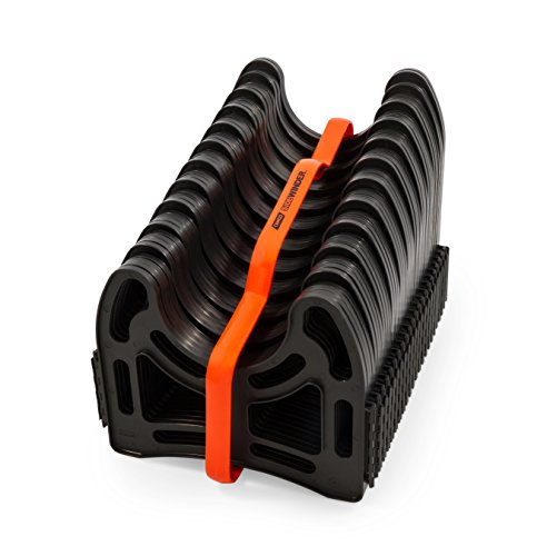 Camco 20ft Sidewinder RV Sewer Hose Support, Made From Sturdy Lightweight Plastic, Won't Creep Closed, Holds Hoses In Place - No Need For Straps ()