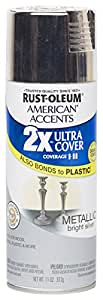 Rust Oleum 280725 American Accents Ultra Cover 2X Spray Paint, Silver, 11-Ounce