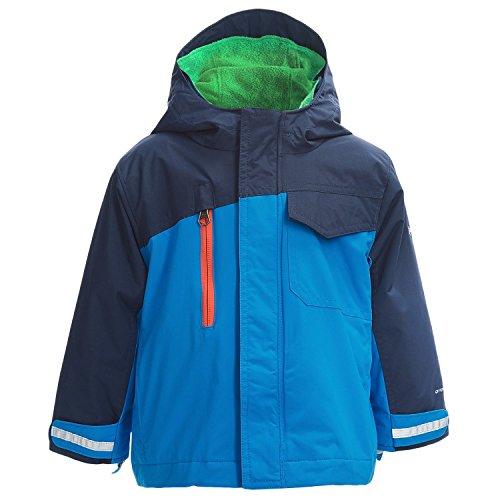 Columbia Sportswear Little Boys Ice Slope Omni-Shield 3-in-1 Jacket (Compass Blue, 4T)