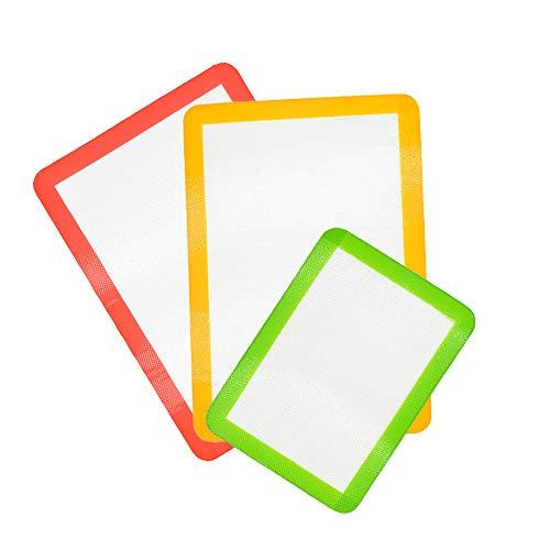 LY-LONGER Set of 3 Pack Nonstick Reusable Silicone Baking Mat 2 Half Sheet (Large 11 5/8