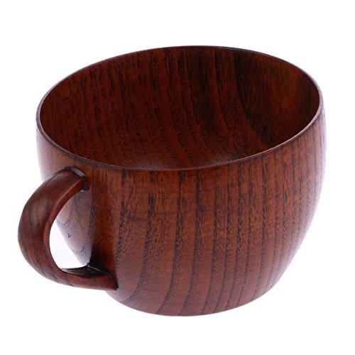 Beer Mug - Natural Jujube Wooden Cup Mugs With Handgrip Coffee Tea Milk Wine Beer - Float Made Favors Xl Wars Eagles For Usmc Funny Mustard ()