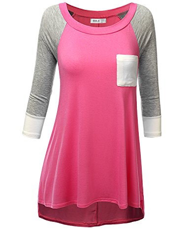 SJSP Womens Beaded Top Bead Neckline Keep The Pace Half Zip Stunning Thumb Loose Fit Top,Small,S