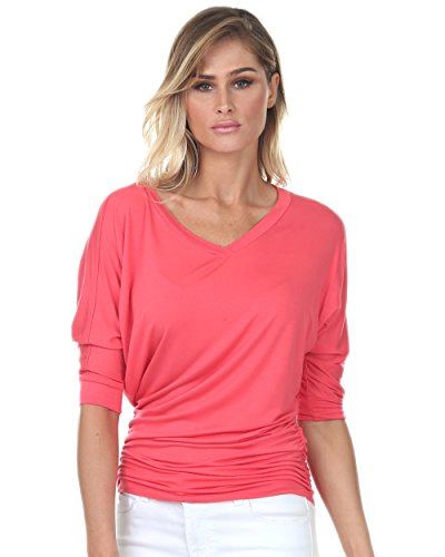 coral tops for women - 2