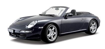 Maisto 1:18 Scale Metallic Blue Porsche 911 Carrera S Cabriolet