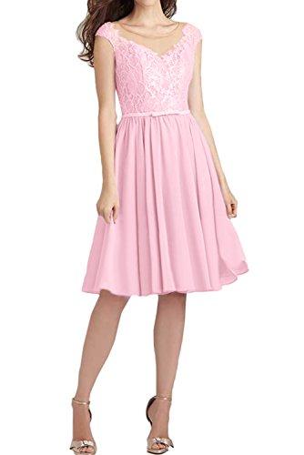 Brautjungfernkleider Kurz Ballkleid Damen Ivydressing Spitze Festlich Abendkleider Rosa wHRxFHUBYq