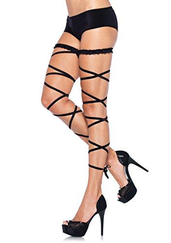 Garter Leg Wraps (Leg Avenue Women's Garter Leg Wrap Set, Black, One Size)