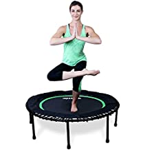 LEAPS & REBOUNDS - Best Seller - Most Affordable, Quietest, BUNGEE Mini Trampoline and Exercise Trampoline