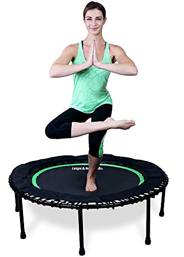 Leaps & Rebounds Bungee Rebounder - The Fun Fitness Rebounder Trampoline - Steel Frame, 32 Latex Rubber Bungees, Zero Stretch Jump Mat - Named Best Value Rebounder - 1 Year Warranty (Green, 40 Inches)