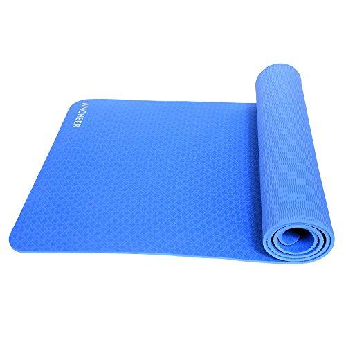 Ancheer Yoga Mat 71 Inch Long Tpe Foam Exercise Mats Pad