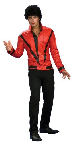[MJ RD Thriller Jacket Deluxe Men's Costume (XL)] (Mj Thriller Halloween Costume)