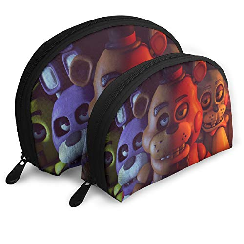 Reneealsip Five Nights At Freddy Shell Makeup Storage Bag Travel Waterproof Toiletry Organizer Set For (Lets Play Restaurant Set)
