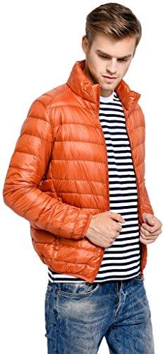 Da Di Sawadikaa Manica Parka Piumino Arancione Cappotto Lunga Inverno Giacca Corto Uomo 55Xqr