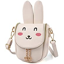 CMK Trendy Kids Bunny Purse Shoulder Bags for Girls Gifts for Children