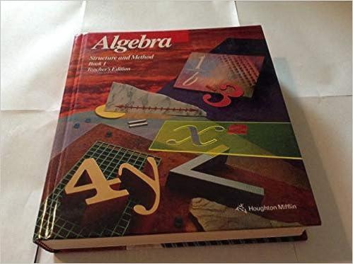 Epub Download Algebra Structure And Method Book 1 Teacher S