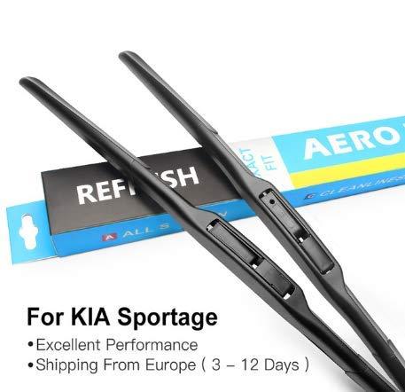 Escobillas de limpiaparabrisas para K I A Sportage Fit Hook Arms Modelo Año de 2004 a 2010: Amazon.es: Coche y moto