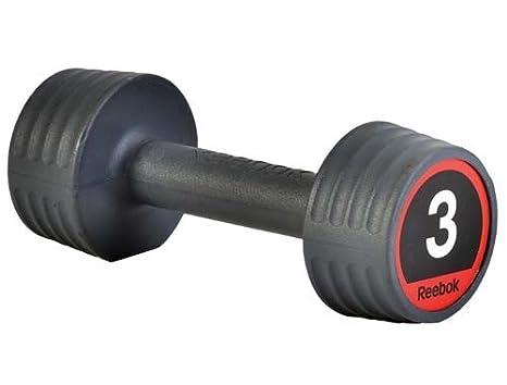 Nueva definición muscular Reebok Gym entrenamiento peso estudio superficie de goma mancuernas Negro negro Talla:2 kg: Amazon.es: Deportes y aire libre