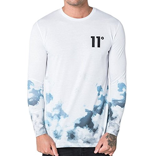 Degrees Ice Fade Larga De 11 Hombre Para Manga Camiseta S1ppxUB