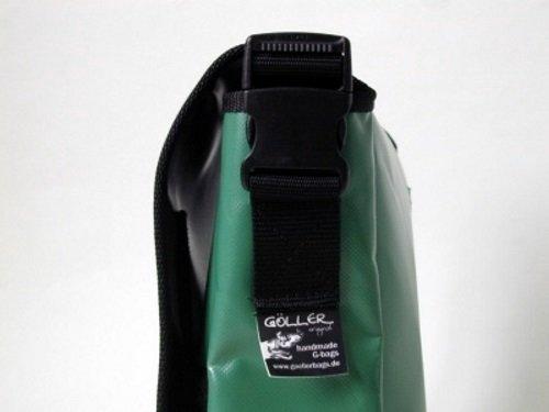 Umhängetasche Hundemotiv Windhund Galgo Smaragdgrün Hellgrün H 23, B 30, T 10