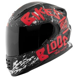 Speed and Strength SS1310 Bikes Are In My Blood Red/Black Full Face Helmet, M