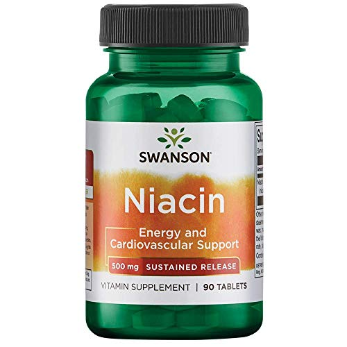 - Swanson Sustained Release Niacin 500 Milligrams 90 Tabs