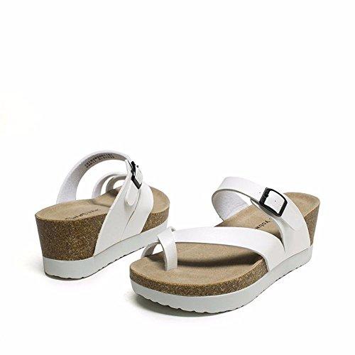 Lady Classica Bianco Shoes 5 Ciabattine Discesa US8 No con Estate EU39 UK6 Sandali Fondo Spesso 55 CN40 5 qXxTnt