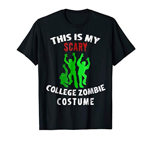 This Is My Scary College Student Zombie Costume Halloween ()