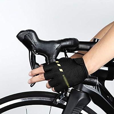 YC electronics Medio Dedo Guantes de Montar en Bicicleta de montaña Hombres y Mujeres Bicicleta de Verano Amortiguador de Bicicletas Delgados Guantes Deportivos Aplicación de Pintura y Color: Amazon.es: Deportes y aire