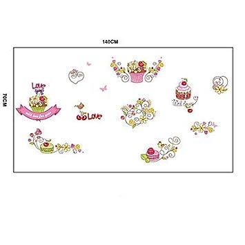Lh Comic Lieben Die Kuchen Pvc Wandsticker Amazon De Kuche Haushalt