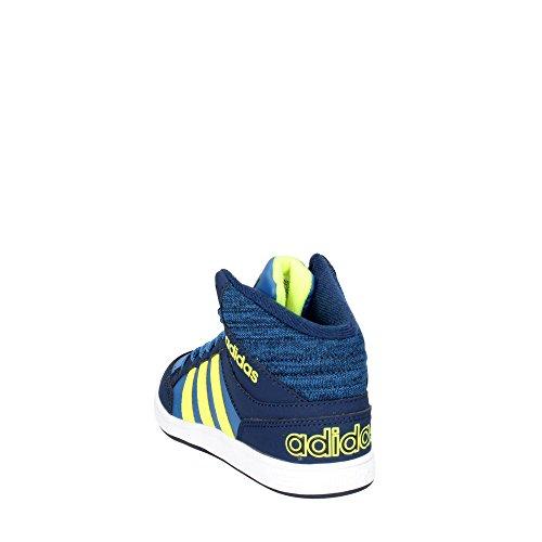 Neo Adidas Navy Scarpe Bb9946 Hoops K Bambino Mid Sneakers RL4Aj35